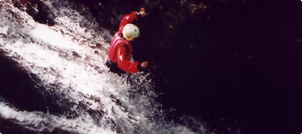 Canyoning activity adventure