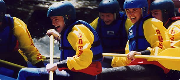 white water rafting group wales