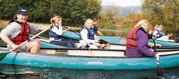canoeing, team activities, north wales